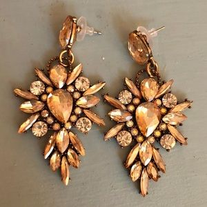 Gold Pageant Earrings